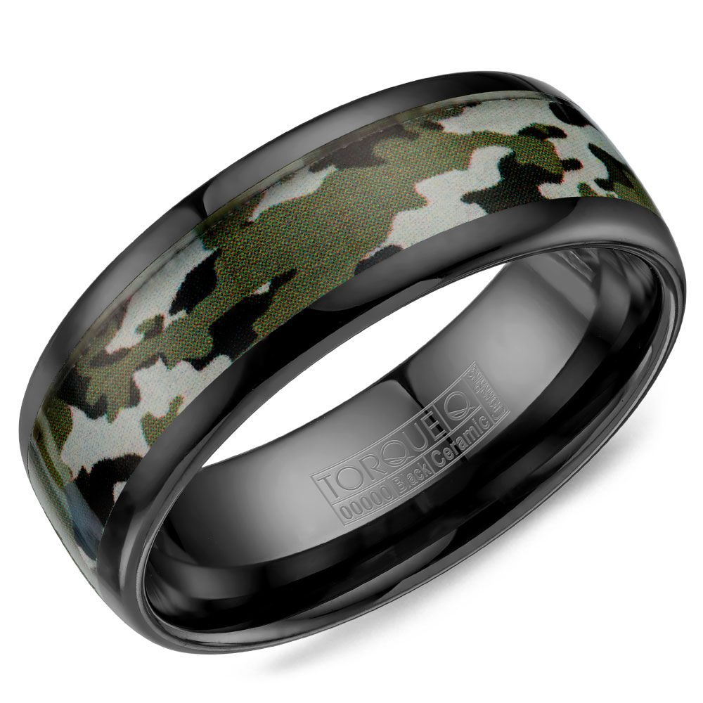 counterpart inlay bands wedding band tungsten with byzantine black ceramic