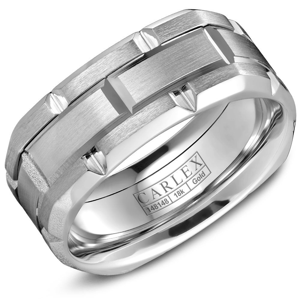band rings product jewelry wedding center chrome cobalt brushed mako