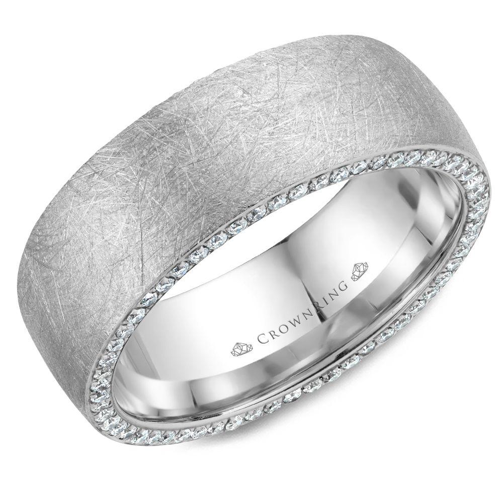Diamond Wedding Bands - WB-022D8W-M10