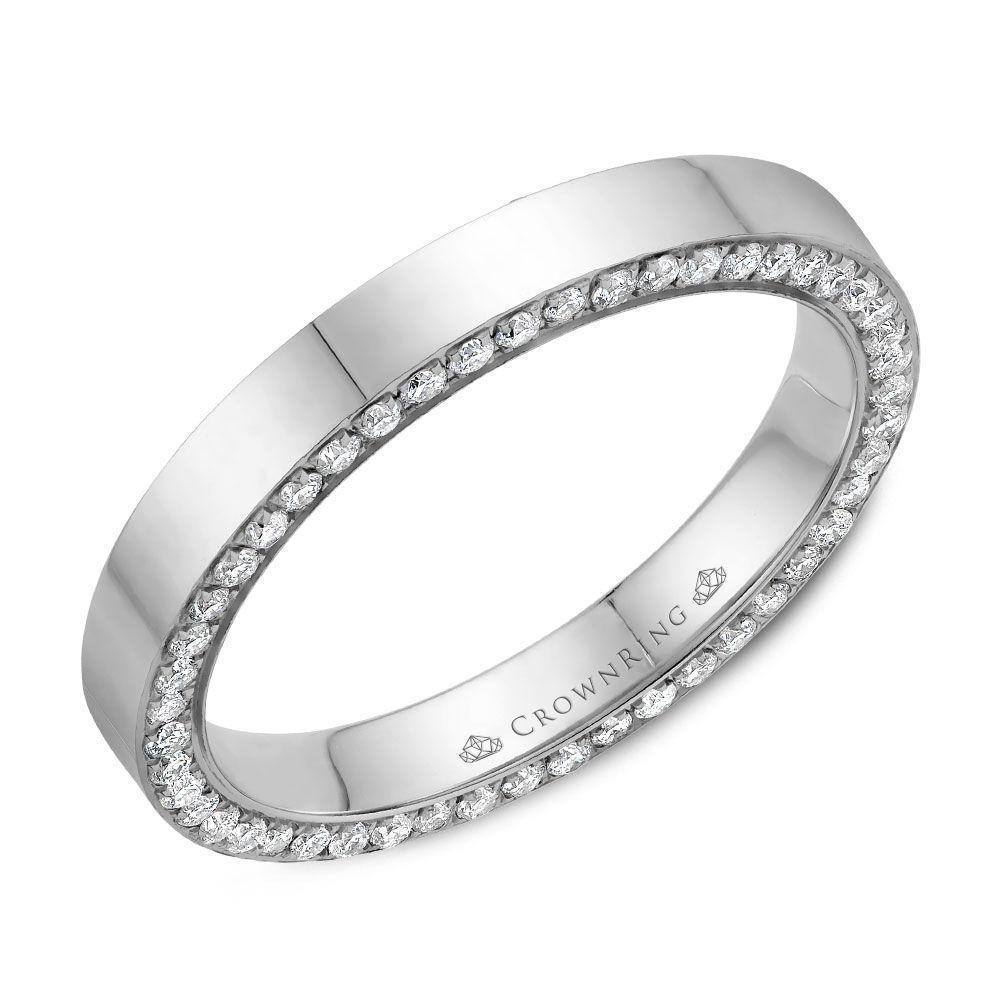 Diamond Wedding Bands - WB-033D3W-M6