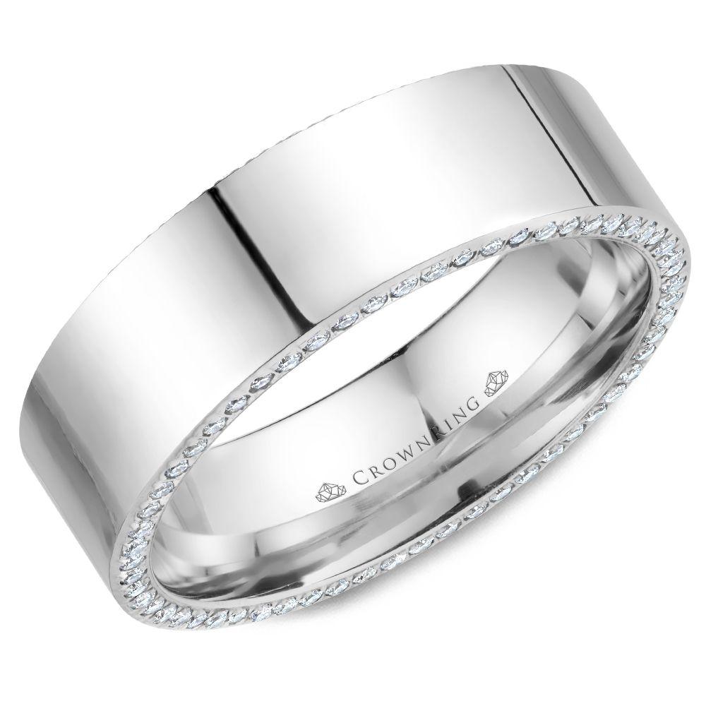 Diamond Wedding Bands - WB-033D75W-M10