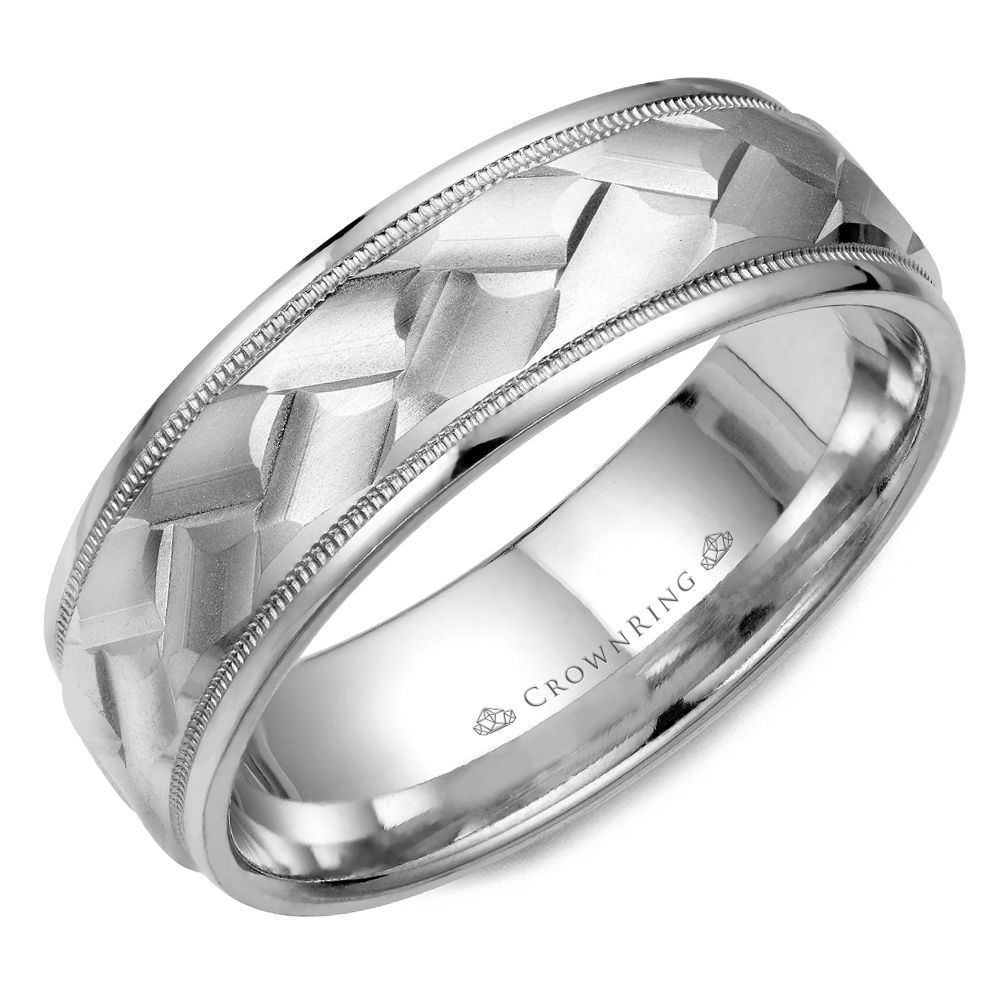Mens Wedding Bands - WB-9098-M10