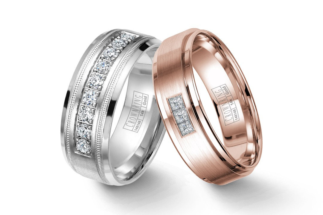 Our Most Popular Diamond Wedding Bands For Men Crownring